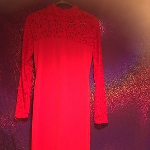 Dresses & Skirts - Red long sleeve dress